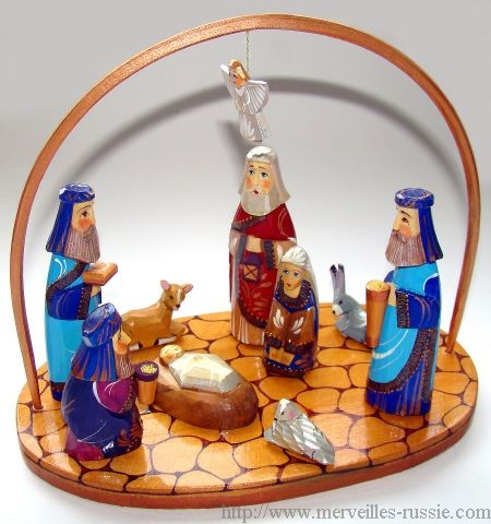 christmas nativity carved wood russian christmas gift collection ebay. Black Bedroom Furniture Sets. Home Design Ideas